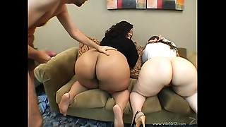 BBW,Big Ass,Blowjob,Chubby,Cumshot,Doggystyle,Group Sex,Fucking,Interracial,Threesome