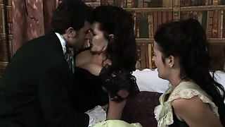 Couple,Daughter,Gagging,Group Sex,Mature,MILF,Old and young,Stepmom,Teen,Threesome