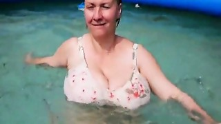 Amateur,BBW,Big Boobs,Chubby,Homemade,Mature,MILF,Old and young,Outdoor,Pool