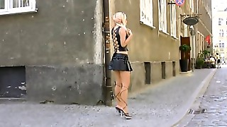 Blonde,Dress,Latex,Lingerie,Outdoor,Public Nudity