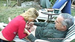Blowjob,Daddy,Daughter,Fucking,Mature,Old and young,Outdoor,Teen