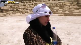 Arab,Beautiful,Blowjob,Brunette,Fucking,Outdoor,Public Nudity,Teen
