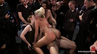 Anal,BDSM,Brunette,Gangbang,Group Sex,Fucking,Public Nudity,Sex Toys,Teen