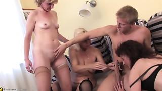Brunette,Czech,Gangbang,Grannies,Group Sex,Fucking,Mature,MILF,Old and young,Stepmom