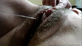 Close-up,Cumshot,Hairy,Masturbation,Orgasm,Wet