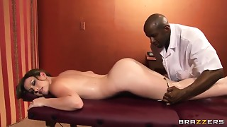 Anal,Black and Ebony,Brunette,Creampie,Interracial,Massage,Natural,Shaved
