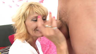 Blonde,Blowjob,Fucking,Mature,MILF,Old and young,Seduced,Small Tits,Stepmom,Teen