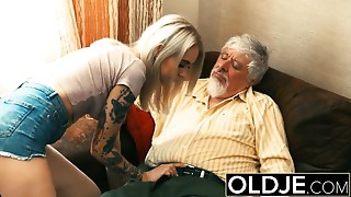 Blonde,Fucking,Old and young,Teen