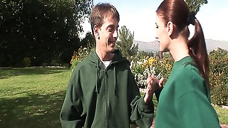 Blowjob,Cumshot,Lingerie,Mature,MILF,Old and young,Outdoor,Redhead,Slut,Stepmom