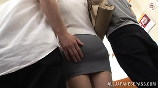 Asian,Blowjob,Double Penetration,MILF,Public Nudity,Stockings,Threesome