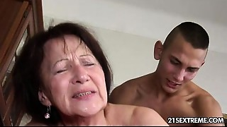 Ass licking,Big Ass,Big Boobs,Blowjob,Brunette,Chubby,Cumshot,Facial,Fingering,Grannies