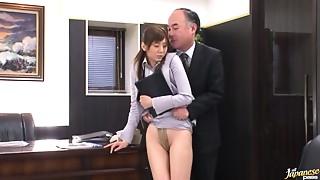 Office,Fucking,Gagging,Facial,Cumshot,BDSM,Asian