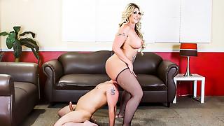Ass licking,BBW,Big Ass,Blonde,Cumshot,Face Sitting,Femdom,Stockings