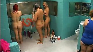 BBW,Blonde,Shower,Sister,Voyeur