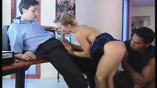 Anal,Blonde,Blowjob,Double Penetration,Facial,Fucking,Office,Threesome