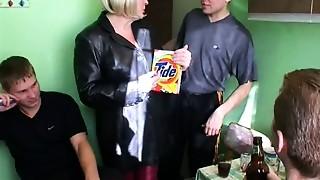 Big Boobs,Gangbang,Fucking,Kitchen,Mature,MILF,Old and young,Stepmom,Teen