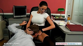 Babe,Big Ass,Big Boobs,Blowjob,Brunette,Glasses,Fucking,Office,Pornstar,Stockings
