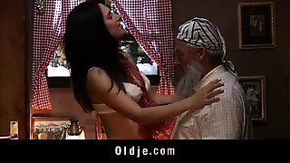 Babe,Blowjob,Brunette,Doggystyle,Fucking,Mature,Old and young,Teen