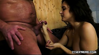 Blowjob,Brunette,Cumshot,Daddy,Grannies,Fucking,Kissing,Mature,Old and young,Smoking