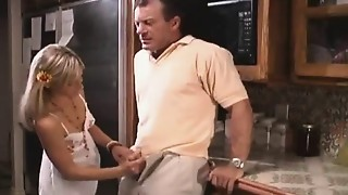 Babe,Blonde,Daddy,Handjob,Old and young,Teen