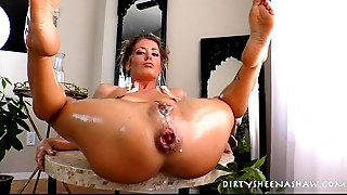 Anal,Gaping,Oiled,Sex Toys