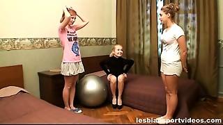 Gym,Lesbian,Russian,Teen