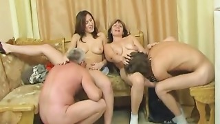 Daughter,Group Sex,MILF,Old and young,Stepmom,Teen