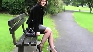 Public Nudity,Stockings,Upskirt