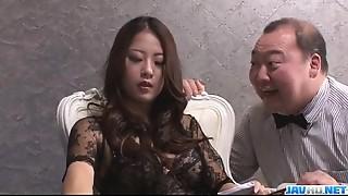 Asian,Big Boobs,Blowjob,Fingering,Hairy,Fucking,Lingerie,Smoking,Stockings