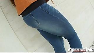 Anal,Brunette,Fucking,Jeans,Teen