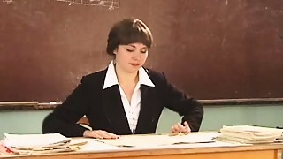Old and young,Russian,School,Teen,Threesome