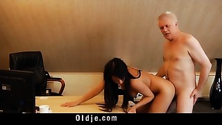 Blowjob,Brunette,Doggystyle,Fucking,Mature,Old and young,Teen