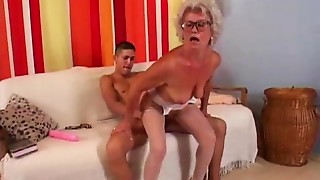 Blonde,Glasses,Grannies,Hairy,Fucking,Mature,MILF,Old and young,Sex Toys,Stepmom