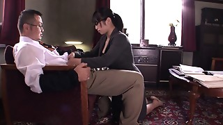 Asian,Blowjob,Brunette,Facial,Fucking,Office,School,Slut,Teen