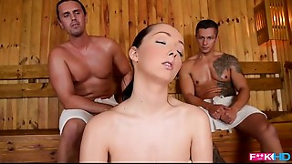 Threesome,Natural,Fucking,Double Penetration,Blowjob,Big Boobs