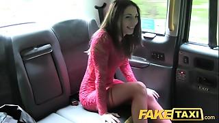 Car Sex,Dress,Fake,Stockings,Teen