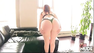 BBW,Big Ass,MILF,Panties,Redhead,Strip
