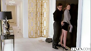 BDSM,Blowjob,Brunette,Cumshot,Doggystyle,Facial,Fucking,Secretary,Spanking