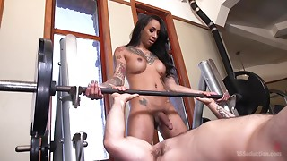 Anal,Big Ass,Big Cock,Black and Ebony,Blowjob,Gym,Fucking,Seduced,Tattoo