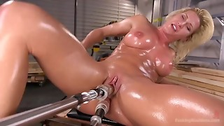 Anal,Double Penetration,Fucking,Machine,MILF,Natural,Oiled,Orgasm,Pornstar,Sex Toys