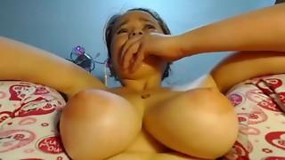 Amateur,Big Boobs,Cumshot,Masturbation,Nipples,Orgasm,Sex Toys,Solo,Squirting,Teen