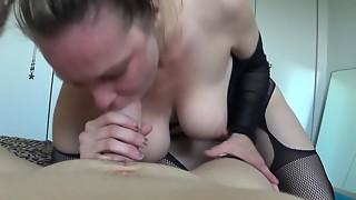 Amateur,Big Boobs,Big Cock,Blowjob,Brunette,Couple,Cumshot,Handjob,Homemade,Lingerie