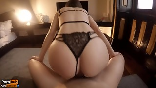 Amateur,Big Ass,Big Cock,Blowjob,Brunette,Close-up,Couple,Creampie,Cumshot,Fucking