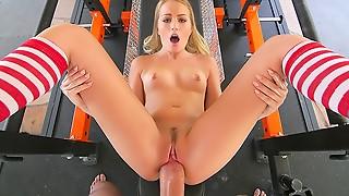 Big Boobs,Big Cock,Blonde,Blowjob,Cumshot,Facial,Gym,Fucking,Petite,Small Tits