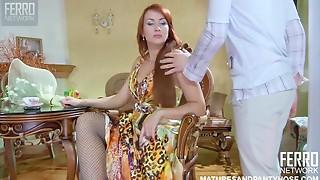 Big Boobs,Cumshot,Fucking,High Heels,Lingerie,Mature,MILF,Redhead,Russian,Stepmom