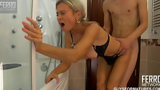 Big Boobs,Blowjob,Cumshot,Doggystyle,Facial,High Heels,Lingerie,Mature,MILF,Old and young
