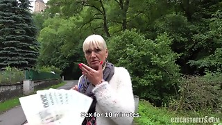 Big Boobs,Blonde,Blowjob,Cumshot,Czech,Grannies,MILF,Outdoor,POV