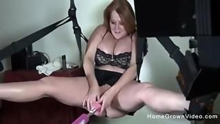 Amateur,Big Boobs,Brunette,Chubby,Handjob,Fucking,Homemade,Lingerie,Machine,Masturbation