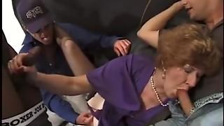 Blowjob,Brunette,Cumshot,Double Penetration,Gangbang,Grannies,Group Sex,Fucking,Interracial,Lingerie