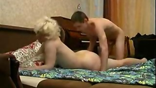 Blonde,Chubby,Couple,Fucking,Mature,Old and young,Orgasm,Russian,Teen